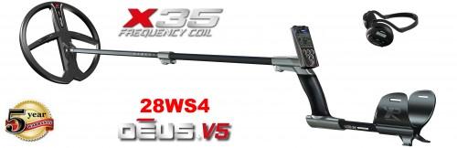 XP Deus 28 RC metāla detektors ar X35 28 cm spoli un WS4 austiņām (ENG)