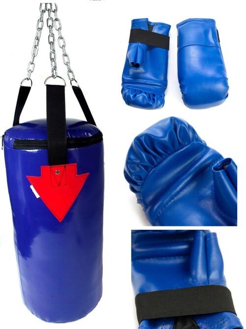 Детская боксерская груша 4кг + перчатки SANRO , синий