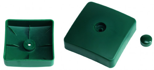 Plastic cover for square poles, 100х100 mm, green