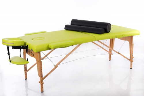 RESTPRO® Classic-2 Olive Massage Table + Massage Bolsters