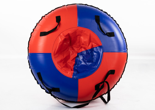 """Inflatable Sled Snow Tube """"Classic"""" (00195-95-BR Red-Blue)"""