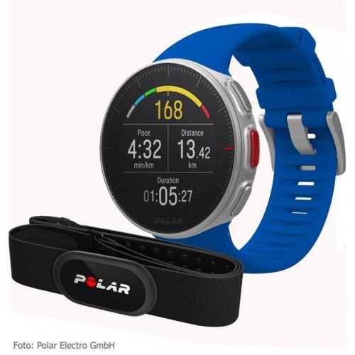 Sporta pulkstenis POLAR VANTAGE V BLUE ar H10 pulsu jostu
