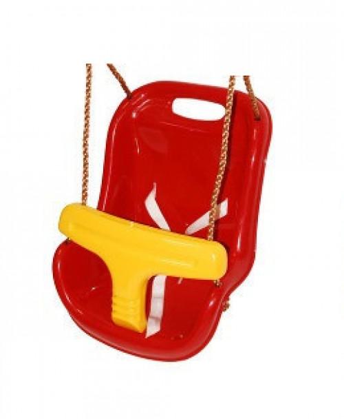 Šūpoles Just Fun ''Mazuļiem'', garums 180 cm, sarkanas ar dzeltenu