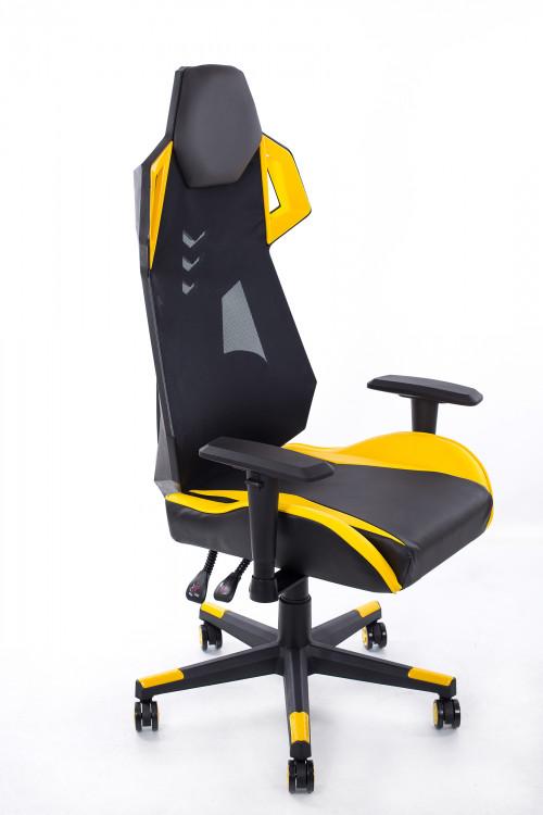 Игровое кресло желто-черное BM1001