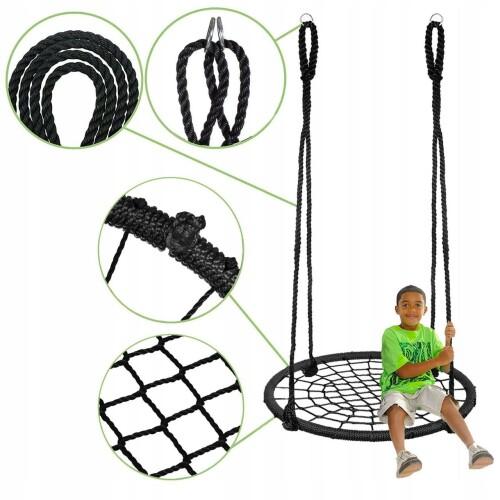 Children's swing Stork nest Ø 100 cm, black