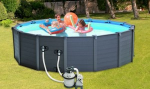 Intex 28382BT Sequoia Spirit Wooden Frame Set Pool (478х124) + filtrējošais kartridžu sūknis + aksesuāri
