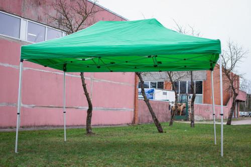 Pop Up Saliekamā nojume bez sienām 3x4.5 m, Zaļa, X sērija, alumīnijs (tents, paviljons, telts)
