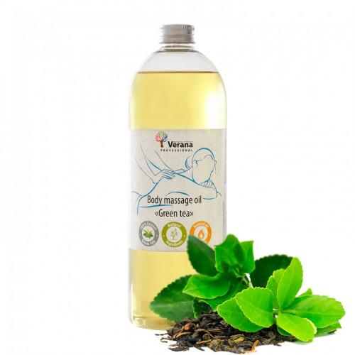 Masāžas eļļa ķermenim Verana Professional, Zaļā tēja 1 litrs