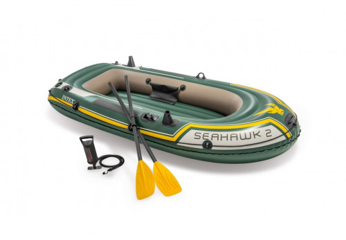 Piepūšamā laiva 2-vietīga Intex 68347 SEAHAWK 2 BOAT SET (236х114х41)