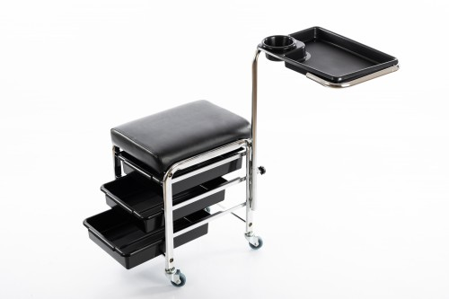 Professional pedicure chair with a foot stand and shelves CH-5005
