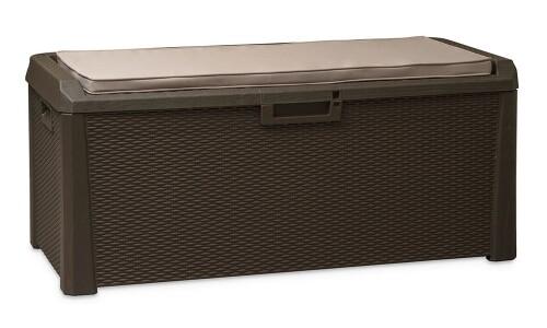 Wicker storage box + seat cushion, 148х72х64 cm, Toomax (Italy)