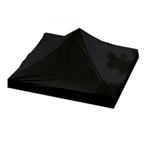 Canopy roof cover 2 x 2 m (black colour, fabric density 160 g/m2)