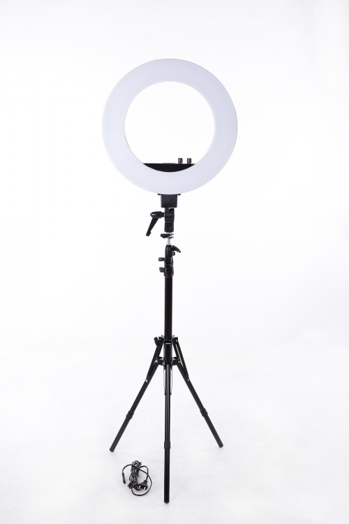 Кольцевая ЛЕД лампа визажиста, Ø46 см, 50W (9601LED-18)