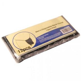 Vienreizējās viriešu melnas apakšbiksītes tanga - 12 gb.
