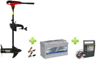 NERAUS NRS 62X + akumulators Varta 90Ah + impulsa lādētājs 9A + spailes