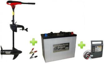 NERAUS NRS 40X + akumulators Intact Traktion-Power 125AH + impulsa lādētājs 9A + spailes