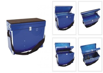 Winter fishing box MZK-BLUE (42х19х36 сm)