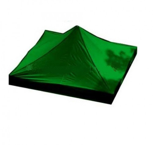 Canopy roof cover 3 x 3 m (green colour, fabric density 160 g/m2)