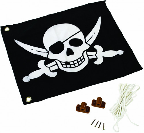 Kids pirate flag (hoisting system) КВТ, 55x45 cm