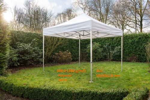 Pop Up portatīvs saliekamā telts 3x3 m, N sērija - alumīnija rāmis  (popup, nojume, paviljons )