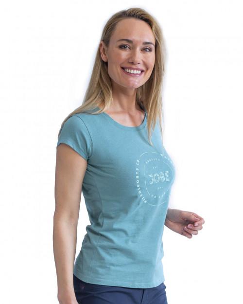 Jobe Casual T-Shirt SieviešuVintage Zilganzaļš