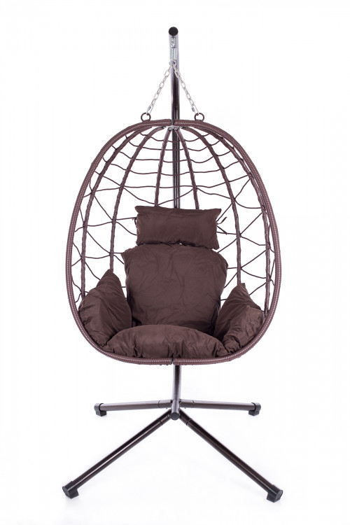 Hanging egg chair EGG-1, foldable with stand