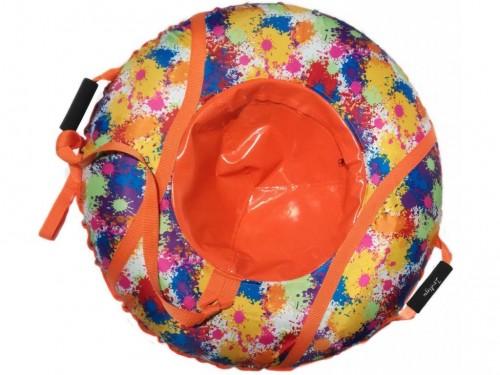 "Inflatable Sled Snow Tube ""Spots"" (00380-95-orange)"