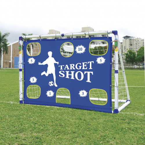 Futbola vārti ar mērķi JC-7180T,183x130x96 cm