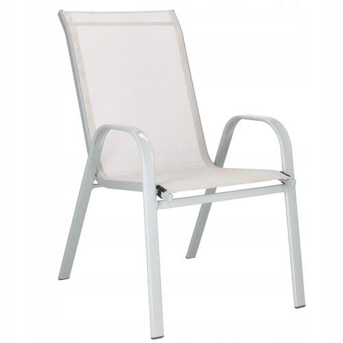 Садовый стул из стали и текстиля, серый