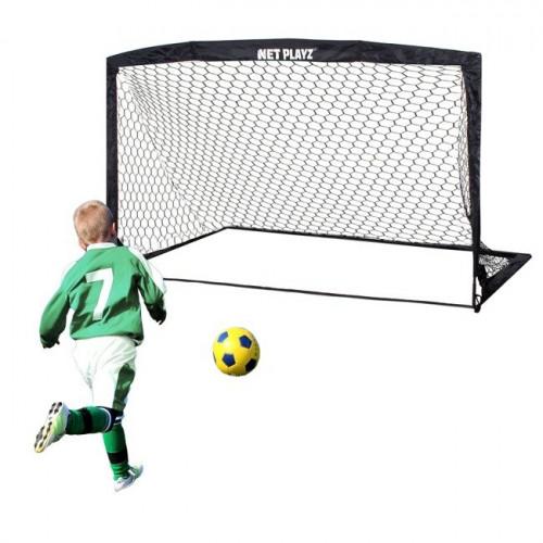 Futbola vārti ar tīklu, 360х180х100 cm