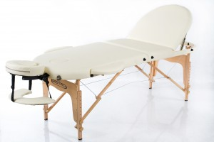 RESTPRO® Classic Oval 3 Cream Massage Table