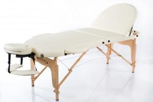 RESTPRO® Classic Oval 3 Cream saliekamais masāžas galds (kušete)