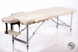 Foldable Massage Table Couch RESTPRO® ALU 2 (M) Cream