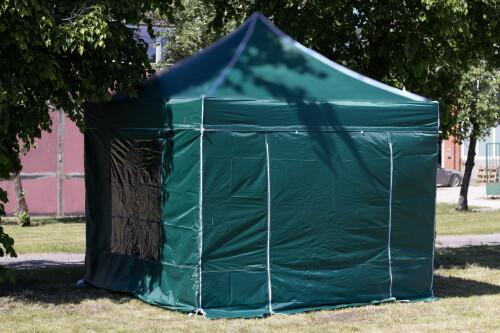 Sienas nojumei 3x3 m (4 gab., zaļa krāsa, auduma blīvums 160 g/m2)