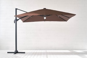 Sun umbrella with lighting Bright Night 3x3 m