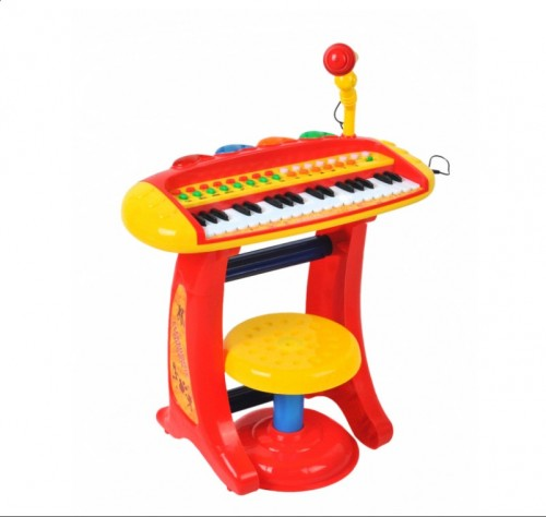 Kids Keyboard with a Microphone and a Chair 00001604