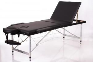 RESTPRO® ALU 3 Black (черного цвета) складной массажный стол (кушетка)