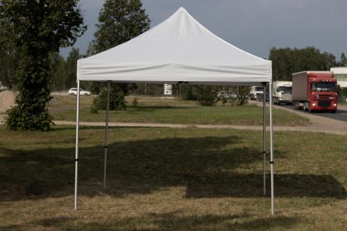 Pop Up portatīvs saliekamā telts 3x3 m, X sērija - alumīnija karkass ( nojume paviljons )