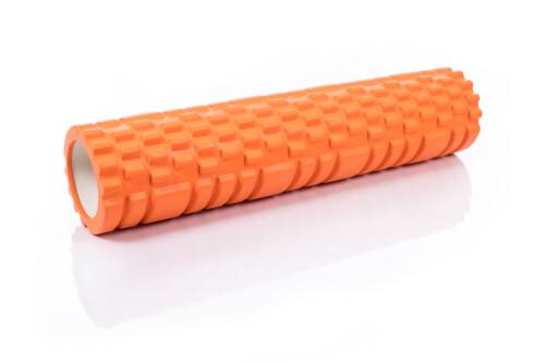 Ролик массажный для йоги Yoga Roller 14x62см, оранжевый
