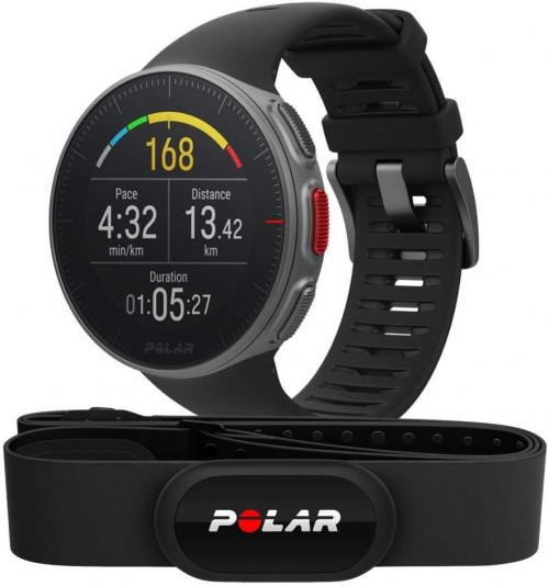 Sporta pulkstenis POLAR VANTAGE V BLACK ar H10 pulsu jostu