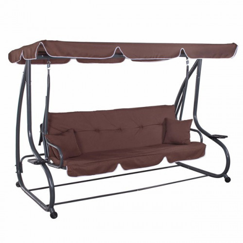Swing sofa, 230x120 cm, 4-seat, brown