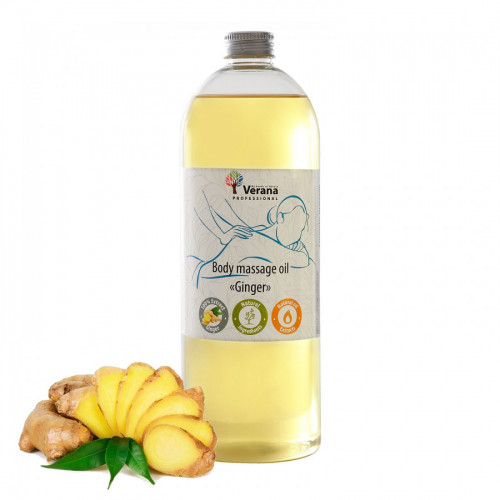 Masāžas eļļa ķermenim Verana Professional, Ingvers 1 litrs