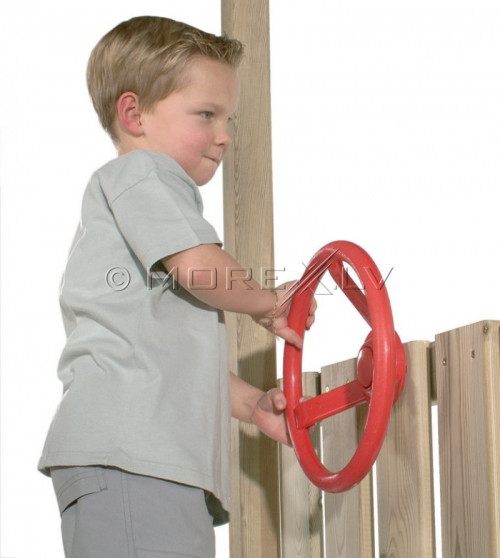Детский руль Just Fun «Маленький шофёр», Ø 30 см, красный