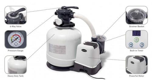 Песочный фильтр насос Intex, 56.5х59х39 см (26646)