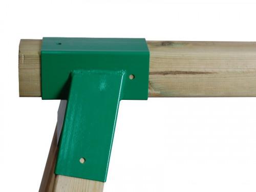 Šūpoļu stiprinājums Just Fun ''Kvadrātveida'', 90x90 mm, zaļš, metāla