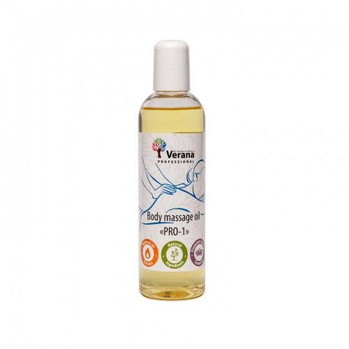 Masāžas eļļa ķermenim Verana Professional, PRO-1 250ml (bez aromāta)