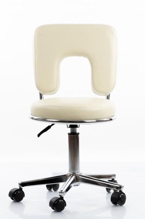 Meistara krēsls RESTPRO® Round 4 beige (kosmetologa, masiera krēsls)