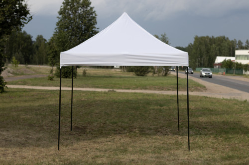 Pop Up portatīvs saliekamā telts 2.92х2.92 m, H sērija - tērauda karkass (popup tents nojume paviljons)