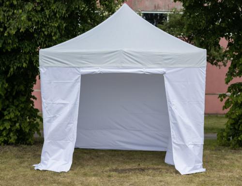 Pop Up portatīvs saliekamā telts ar sienām 3x3 m, X sērija - alumīnija rāmis 40x40x1.0 mm