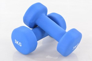 Two vinyl dumbbells 3 kg